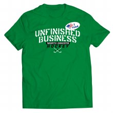 UNIVERSITY OF NORTH DAKOTA HOCKEY UNFINISHED BUSINESS SERIES I VOTED TEE