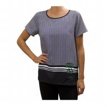 UNIVERSITY OF NORTH DAKOTA HERRINGBONE CHIFFON TOP