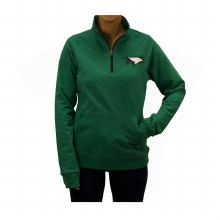 UNIVERSITY OF NORTH DAKOTA HAWK SOLID WOMENS 1/4 ZIP
