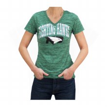 UNIVERSITY OF NORTH DAKOTA FIGHTING HAWKS OVERLAY TEXT TEE