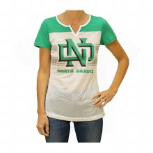 UNIVERSITY OF NORTH DAKOTA LADIES SPLIT V TEE