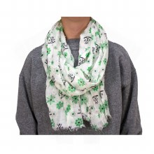 UNIVERSITY OF NORTH DAKOTA HOCKEY FLORAL & STICKS SCARF