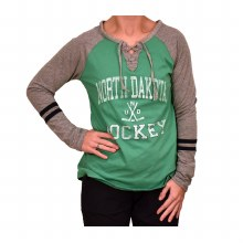 UNIVERSITY OF NORTH DAKOTA HOCKEY FRANKIE LACE TEE