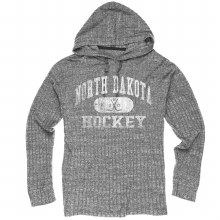 UNIVERSITY OF NORTH DAKOTA HOCKEY LADIES RIBBED HACCI HOOD
