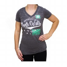 UNIVERSITY OF NORTH DAKOTA STARS V-NECK TEE