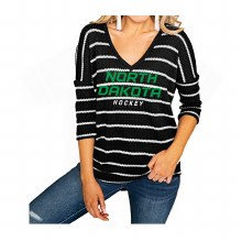 UNIVERSITY OF NORTH DAKOTA HOCKEY WAFFLE V-NECK