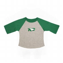 UNIVERSITY OF NORTH DAKOTA FIGHTING HAWKS LIL' RAGLAN TEE