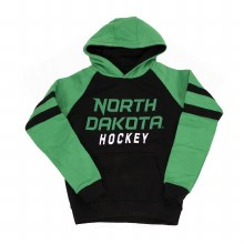 UNIVERSITY OF NORTH DAKOTA HOCKEY YOUTH RAGLAN STRIPE HOOD