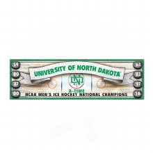 UNIVERSITY OF NORTH DAKOTA 8 TIME NCAA CHAMPIONS ANTIQUE SIGN