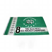 UNIVERSITY OF NORTH DAKOTA 8 TIME CHAMPIONS 3X5 BANNER FLAG