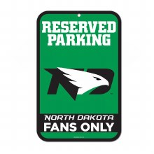 UNIVERSITY OF NORTH DAKOTA RESERVED PARKING SIGN