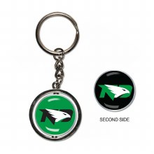 UNIVERSITY OF NORTH DAKOTA FIGHTING HAWKS SPINNER KEYCHAIN