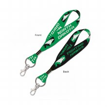 UNIVERSITY OF NORTH DAKOTA FIGHTING HAWKS LANYARD KEYSTRAP