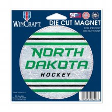 ND HOCKEY DIE CUT MAGNET