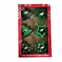 UNIVERSITY OF NORTH DAKOTA 6 PACK TREE & STAR SET