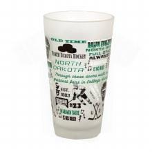 UNIVERSITY OF NORTH DAKOTA FROSTED 16OZ GLASS