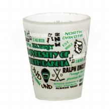 UNIVERSITY OF NORTH DAKOTA FROSTED SHOT GLASS