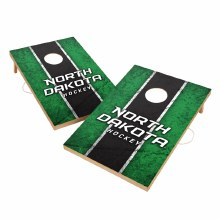 UNIVERSITY OF NORTH DAKOTA HOCKEY SOLID WOOD 2x3 CORNHOLE