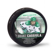 UNIVERSITY OF NORTH DAKOTA HOCKEY DRAKE CAGGIULA ALUMNI PUCK