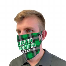 UND FAN MASK - PLAID HOCKEY