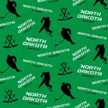 UNIVERSITY OF NORTH DAKOTA HOCKEY COTTON FABRIC