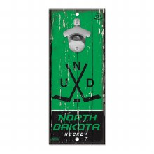 UNIVERSITY OF NORTH DAKOTA HOCKEY BOTTLE OPENER SIGN
