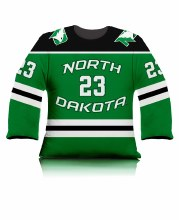 UNIVERSITY OF NORTH DAKOTA HOCKEY ENGELSTAD JERSEY PILLOW