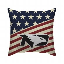 UNIVERSITY OF NORTH DAKOTA FIGHTING HAWKS AMERICANA THROW PILLOW