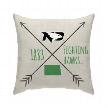 UNIVERSITY OF NORTH DAKOTA FIGHITNG HAWKS CROSS ARROW THROW PILLOW