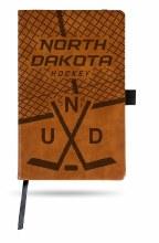 UNIVERSITY OF NORTH DAKOTA HOCKEY LEATHER NOTEPAD