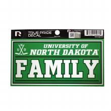 UNIVERSITY OF NORTH DAKOTA FAMILY DECAL