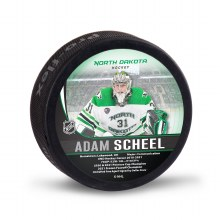 UNIVERSITY OF NORTH DAKOTA HOCKEY ADAM SCHEEL ALUMNI PUCK