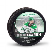 UNIVERSITY OF NORTH DAKOTA HOCKEY JORDAN KAWAGUCHI ALUMNI PUCK