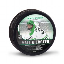 UNIVERSITY OF NORTH DAKOTA HOCKEY MATT KIERSTED ALUMNI PUCK