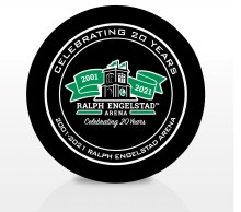 20 YEAR RALPH ENGESTAD ARENA COLLECTOR PUCK
