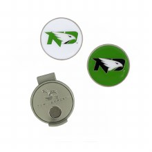 UNIVERSITY OF NORTH DAKOTA FIGHTING HAWKS HAT CLIP & BALL MARKERS