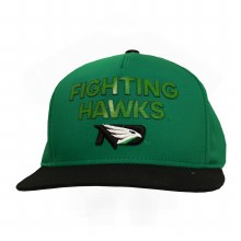 UNIVERSITY OF NORTH DAKOTA FIGHTING HAWKS FLAT BRIM SNAPBACK