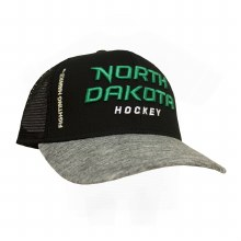 UNIVERSITY OF NORTH DAKOTA HOCKEY MESH CHROME HAT
