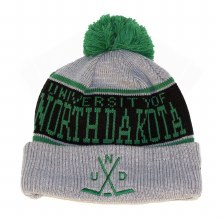 UNIVERSITY OF NORTH DAKOTA HOCKEY KNIT STRIPE POM
