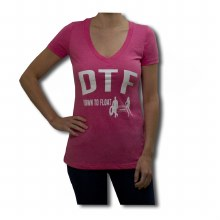 LADIES DOWN TO FLOAT V-NECK