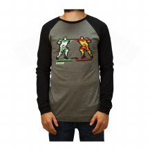 8-BIT BRAWL BASEBALL LONG SLEEVE TEE