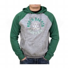 UNIVERSITY OF NORTH DAKOTA HOCKEY RAGLAN CAMPUS HOOD