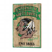 UNIVERSITY OF NORTH DAKOTA FIGHTING SIOUX WOOD SIGN