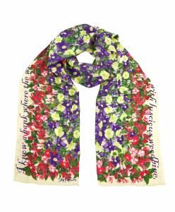 Shakespeare's Flowers Silk Scarf
