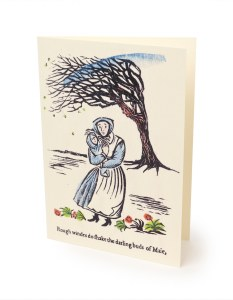 'Rough Winds' Greetings Card Exclusively Illustrated by Louisa Hare