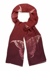 Swallowtail Butterfly Scarf (Berry)