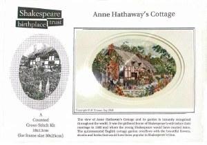 Cross Stitch Kit Anne Hathaway's Cottage