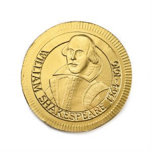 Shakespeare Chocolate Coin