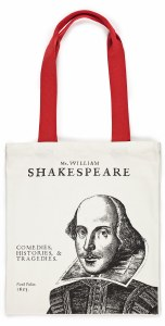 Shakespeare's First Folio Canvas Bag