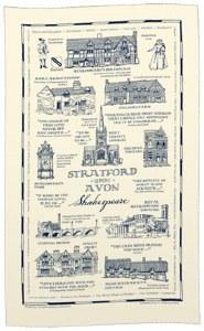 Stratford-upon-Avon Heritage Tea Towel